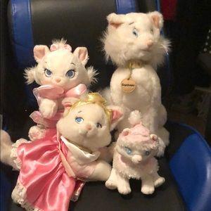 Lot of 4 Aristocats/Marie plush